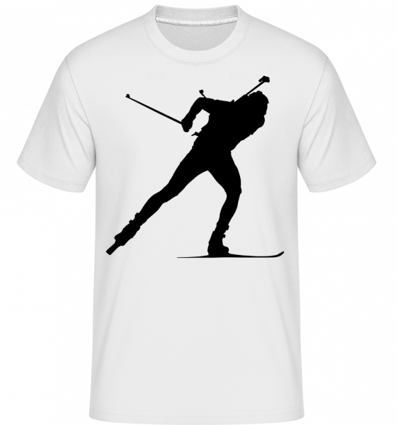 Skiing Cross Country Black - Shirtinator Männer T-Shirt - Weiß - Vorn