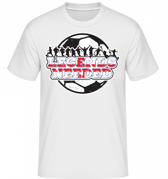 Fußball England Legends Needed - Shirtinator Männer T-Shirt - Weiß - Vorn