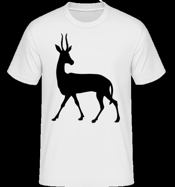 Schatten Hirsch Neugierig - Shirtinator Männer T-Shirt - Weiß - Vorn