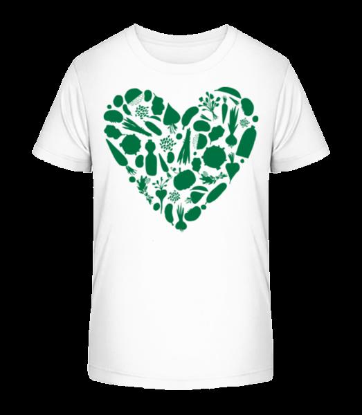 Vegetarian Heart - Kid's Premium Bio T-Shirt - White - Front