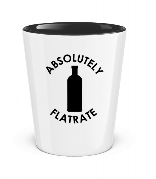 Absolutely Flatrate Vodka - Two-Toned Shot Glass - White - Front