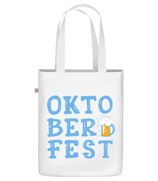 "Oktoberfest - Organic ""Earth Positive"" tote bag - White - Front"