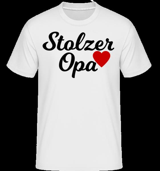 Stolzer Opa - Shirtinator Männer T-Shirt - Weiß - Vorn