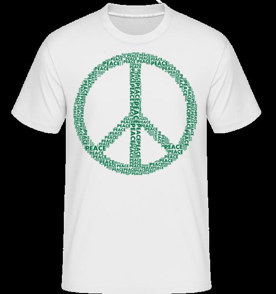 Peace Sign - Shirtinator Men's T-Shirt - White - Front