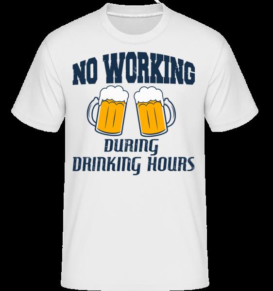 No Working But Drinking - Shirtinator Männer T-Shirt - Weiß - Vorn