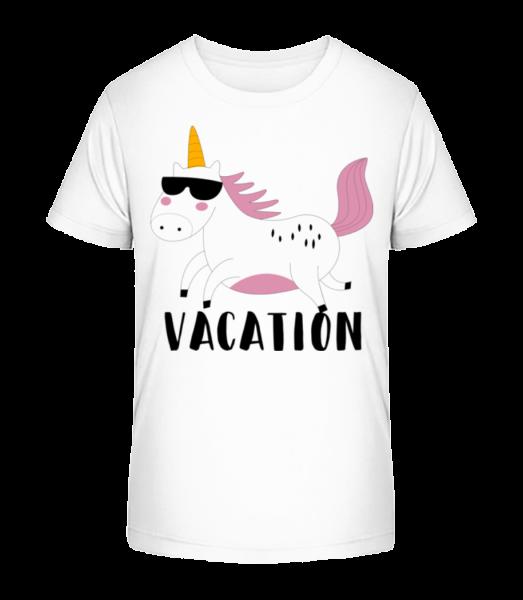 Vacation Unicorn - Kid's Premium Bio T-Shirt - White - Front