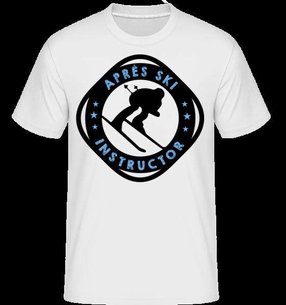 Après Ski Instructor - Shirtinator Männer T-Shirt - Weiß - Vorn