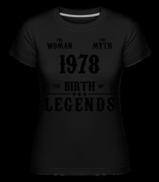 The Myth Woman 1978 - Shirtinator Frauen T-Shirt - Schwarz - Vorn