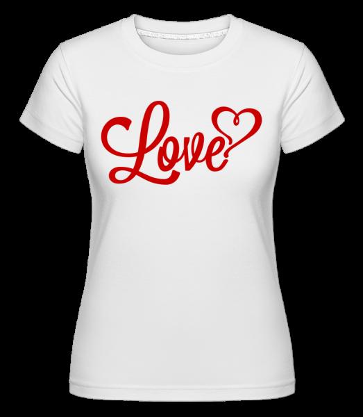 Love Sign Red - Shirtinator Frauen T-Shirt - Weiß - Vorn