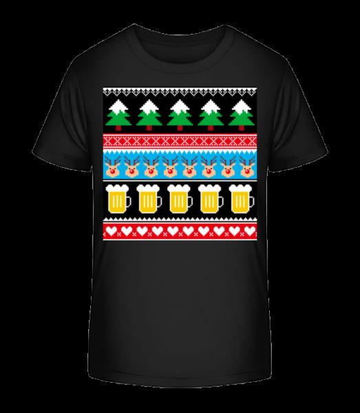 Ugly Christmas Symbols - Kinder Premium Bio T-Shirt - Schwarz - Vorn