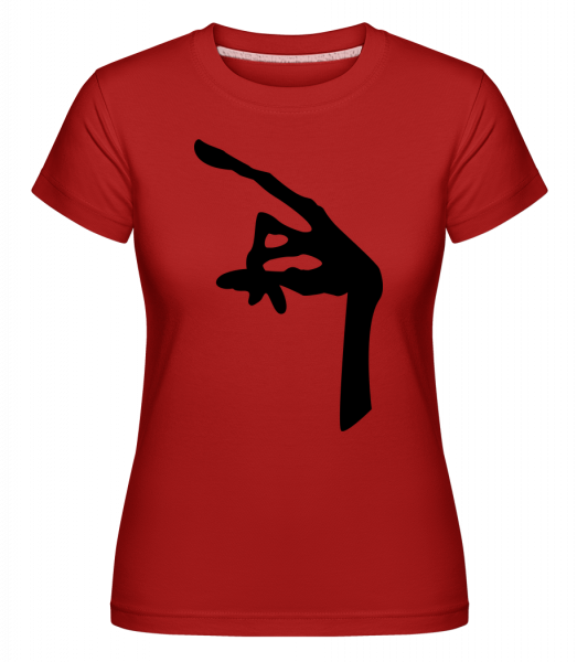 Alien Hand - Shirtinator Frauen T-Shirt - Rot - Vorn