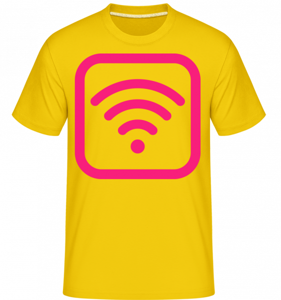 Wlan Icon Pink -  Shirtinator Men's T-Shirt - Golden yellow - Vorn