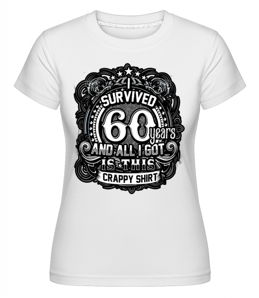 I Survived 60 Years - Shirtinator Women's T-Shirt - White - Front