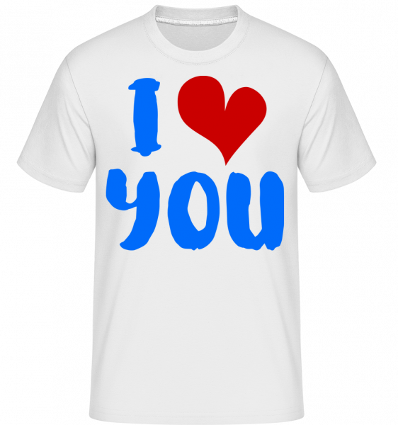 I Love You -  Shirtinator Men's T-Shirt - White - Vorn
