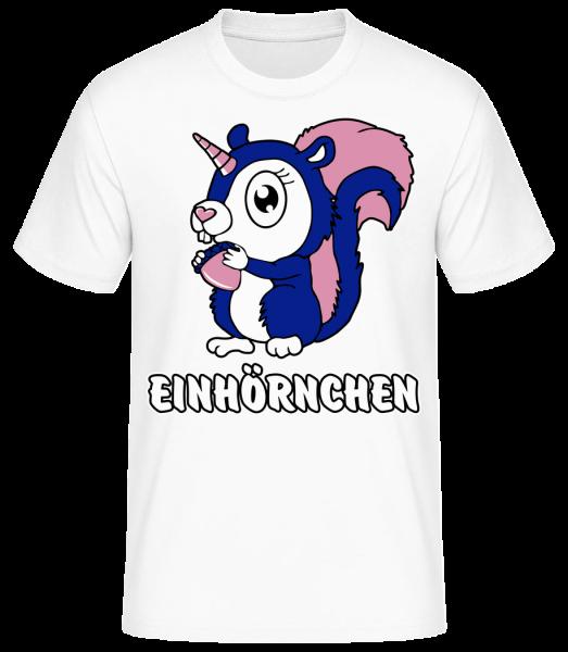 Einhörnchen - Basic T-Shirt - Weiß - Vorn