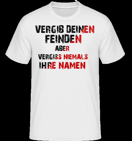 Vergib Deinen Feinden - Shirtinator Männer T-Shirt - Weiß - Vorn