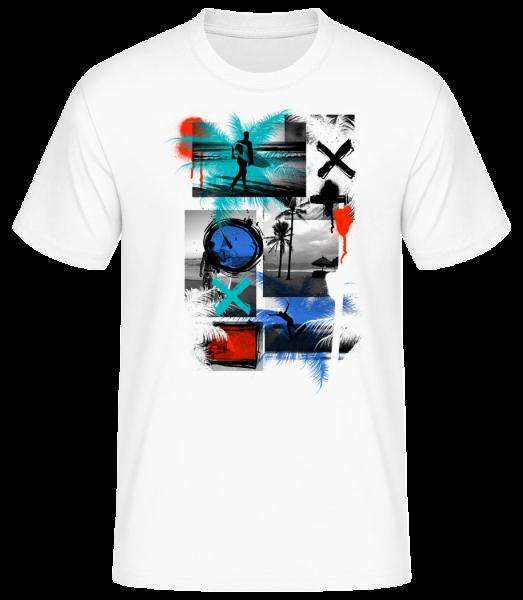 Surfing And Graffiti - Men's Basic T-Shirt - White - Front