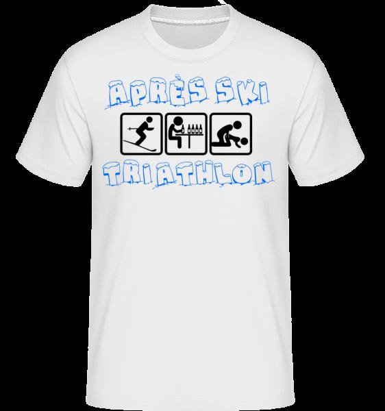 Après Ski Triathlon - Shirtinator Männer T-Shirt - Weiß - Vorn