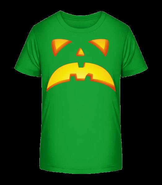 Pumpkin Face Evil - Kid's Premium Bio T-Shirt - Green - Front