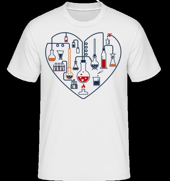 Science Love -  Shirtinator Men's T-Shirt - White - Vorn