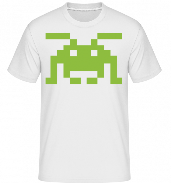 Pixel Monster -  Shirtinator Men's T-Shirt - White - Vorn