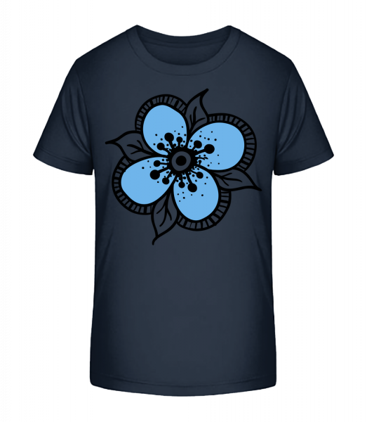 Flower Comic - Kid's Premium Bio T-Shirt - Navy - Front