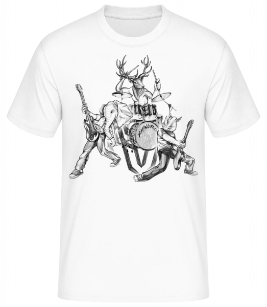 Wild Band - Men's Basic T-Shirt - White - Front