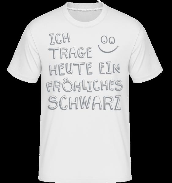 Ich Trage Ein Fröhliches Schwarz - Shirtinator Männer T-Shirt - Weiß - Vorn