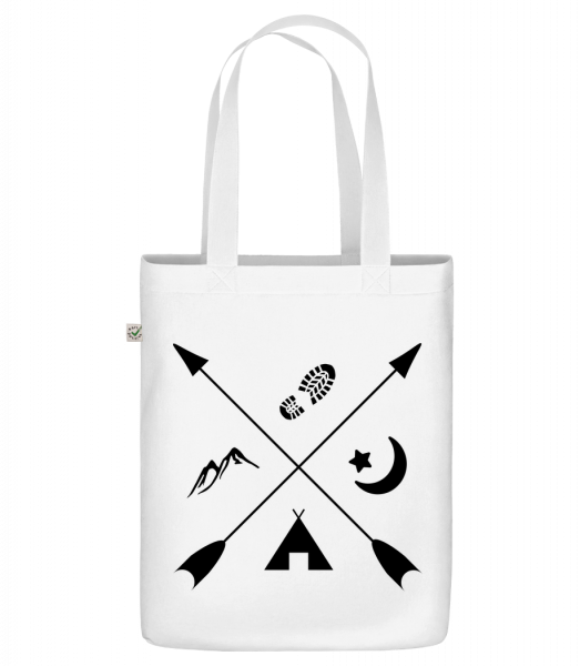 """Hipster Pfeile - Organic """"Earth Positive"""" tote bag - White - Front"""