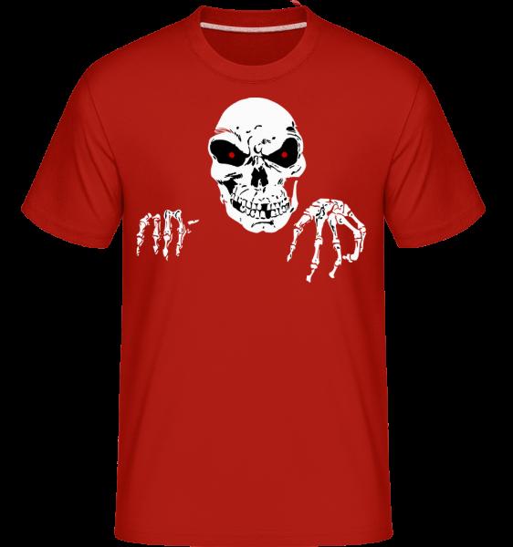 Gruseliger Tod - Shirtinator Männer T-Shirt - Rot - Vorn