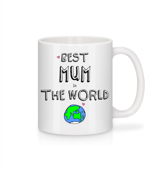 Best Mum In The World - Tasse - Weiß - Vorn