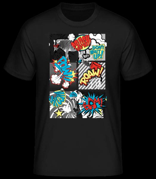 Cartoon animals - Basic T-Shirt - Black - Vorn