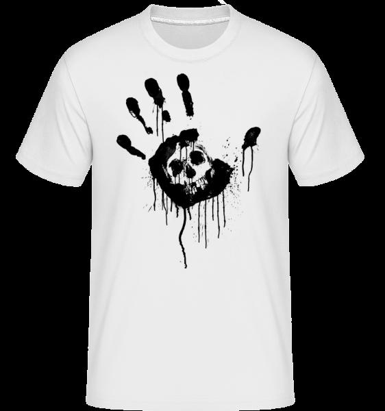 Totenkopf Schwarze Hand - Shirtinator Männer T-Shirt - Weiß - Vorn