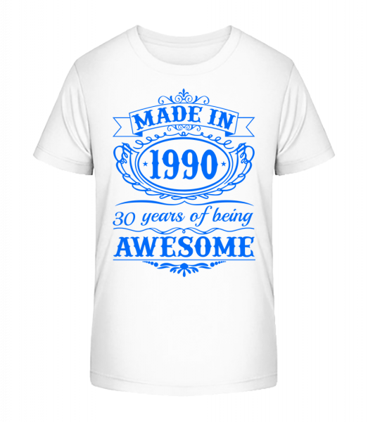 Being Awesome 90 - Kid's Premium Bio T-Shirt - White - Front