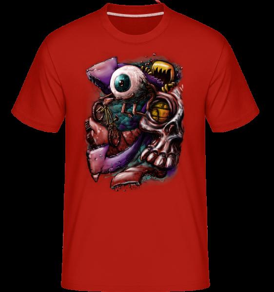 Eye flight - Shirtinator Men's T-Shirt - Red - Vorn