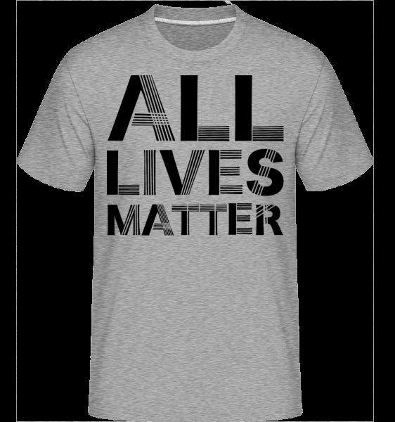 All Lives Matter -  Shirtinator Men's T-Shirt - Heather grey - Front