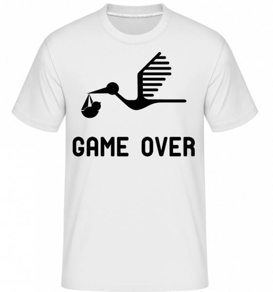 Game Over  - Baby Announcement -  Shirtinator Men's T-Shirt - White - Vorn