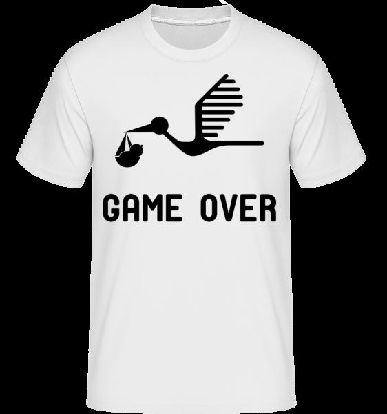 Game Over - Baby Ankündigung - Shirtinator Männer T-Shirt - Weiß - Vorn