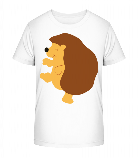 Kids Comic - Hedgehog - Kid's Premium Bio T-Shirt - White - Front