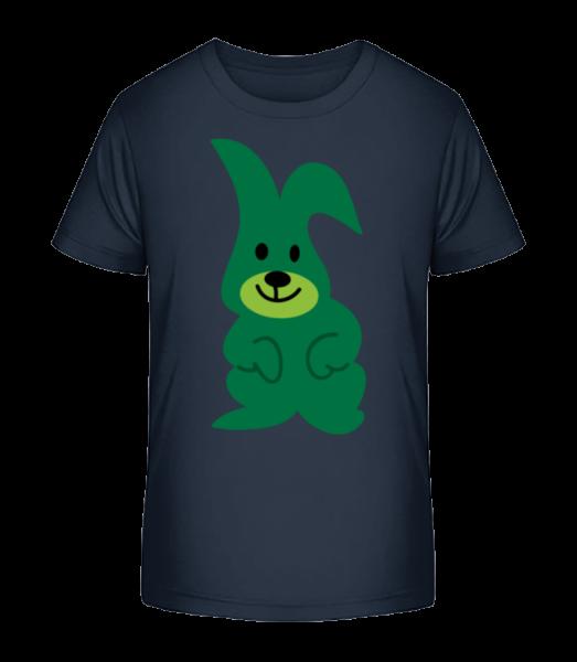 Kids Comic - Rabbit - Kid's Premium Bio T-Shirt - Navy - Front