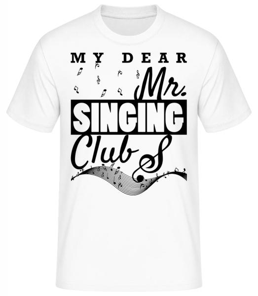 Mr Singing Club - Männer Basic T-Shirt  - Weiß - Vorn