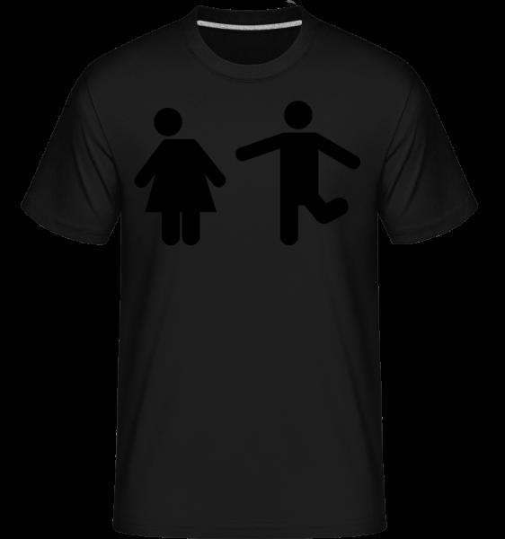 Frau Und Mann Logo - Shirtinator Männer T-Shirt - Schwarz - Vorn