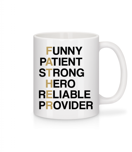 FATHER - Definition - Mug - White - Front