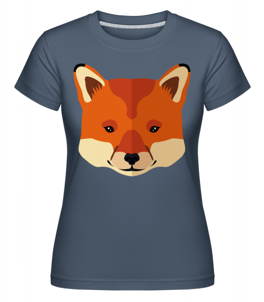 Fox Comic - Shirtinator Women's T-Shirt - Denim - Vorn