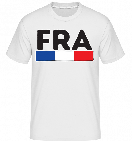 Football France -  Shirtinator Men's T-Shirt - White - Vorn
