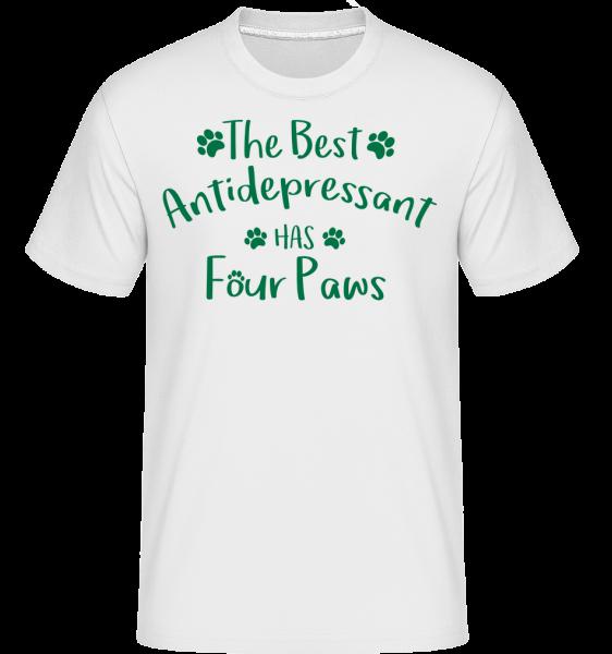 The Best Antidepressant - Shirtinator Männer T-Shirt - Weiß - Vorn