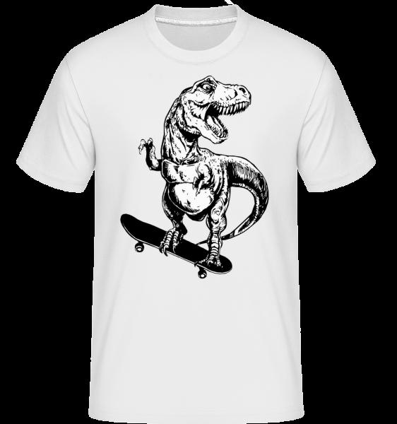 T-Rex Skater -  Shirtinator Men's T-Shirt - White - Vorn