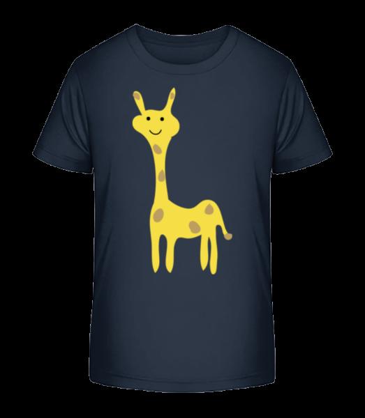 Kinder Comic - Giraffe - Kinder Premium Bio T-Shirt - Marine - Vorn