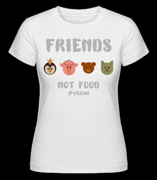 Friends Not Food - Shirtinator Frauen T-Shirt - Weiß - Vorn