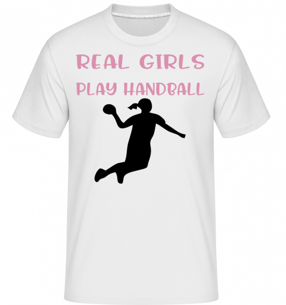 Real Girls Play Handball -  Shirtinator Men's T-Shirt - White - Vorn